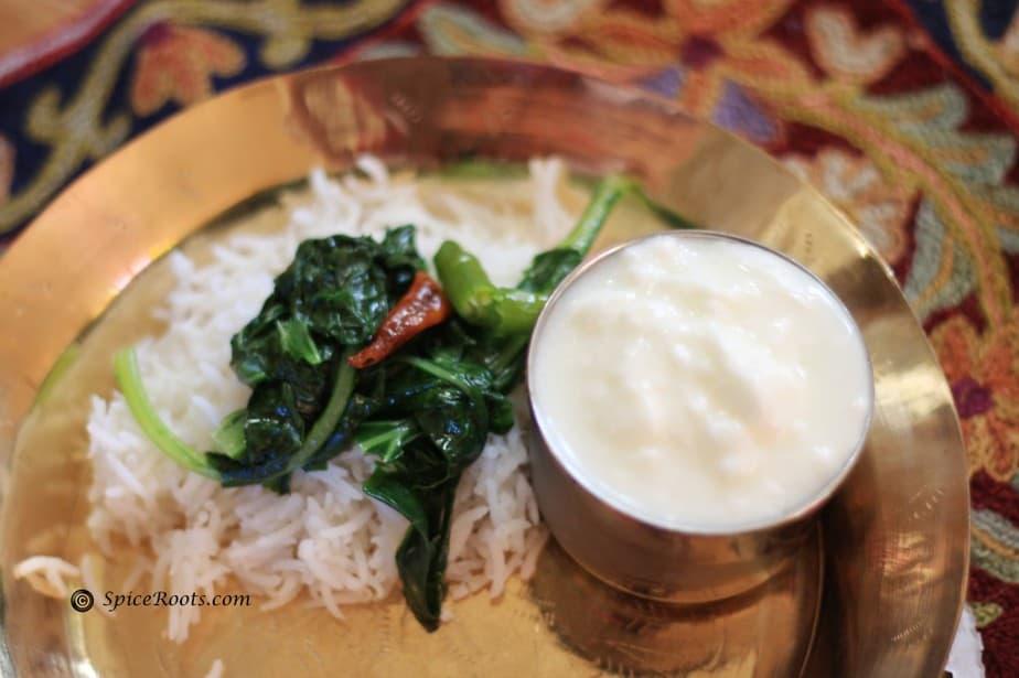 Koshur Haakh - Collard greens cooked in Kashmiri style