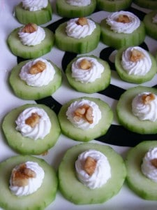 Cucumber Yogurt cups