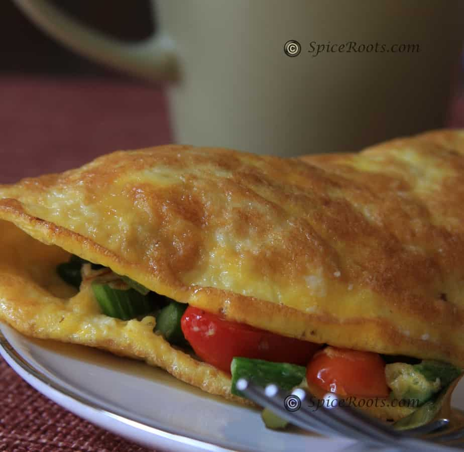 Asparagus And Goat Cheese Omelet For Two Recipe — Dishmaps