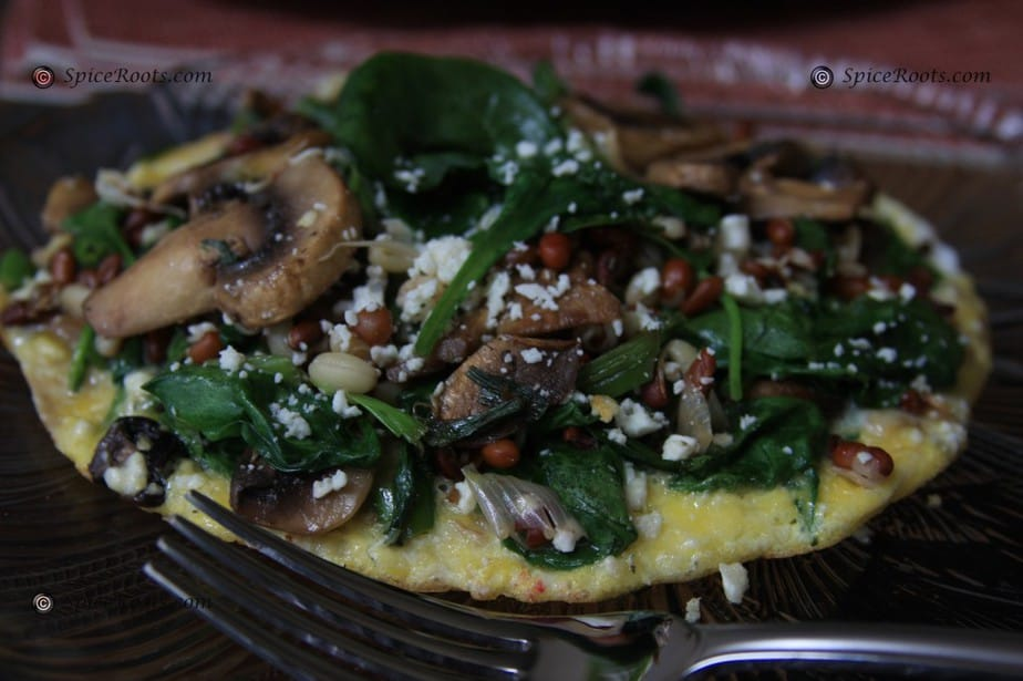 Omelet with Sprouted Legumes