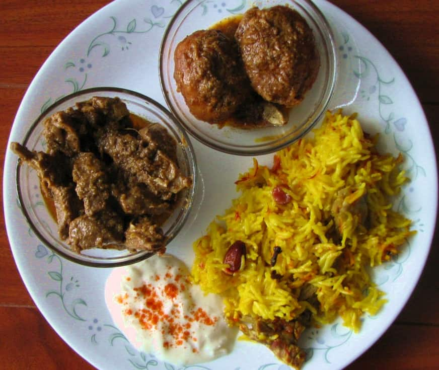 Roganjosh, Dum Aloo, Neni Pulav