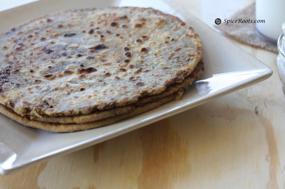 Nimbu Paratha (Lemony Flaky pan fried bread)