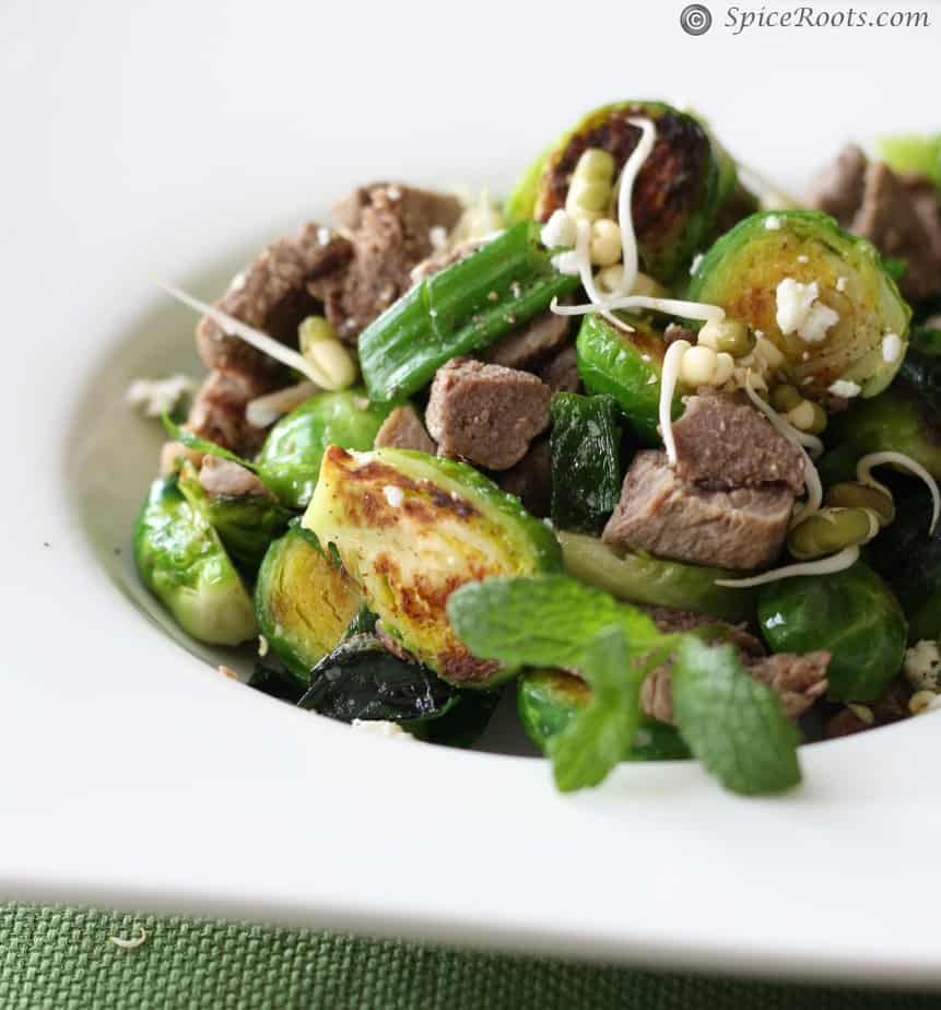 brussel sprout spring salad