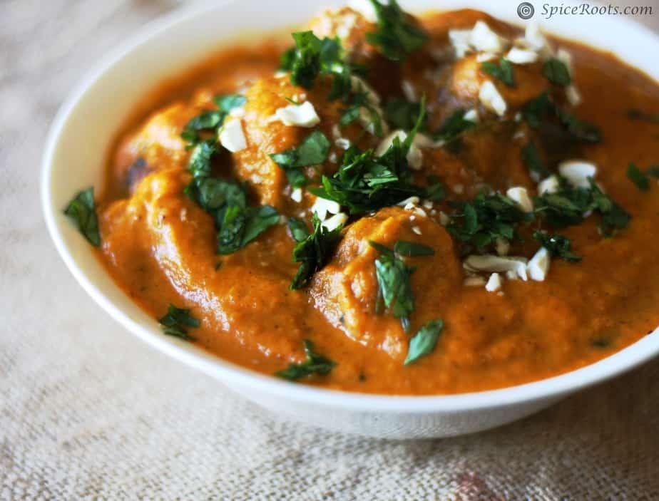 Malai Kofta – Cottage Cheese Kofta in Rich Tomato Sauce