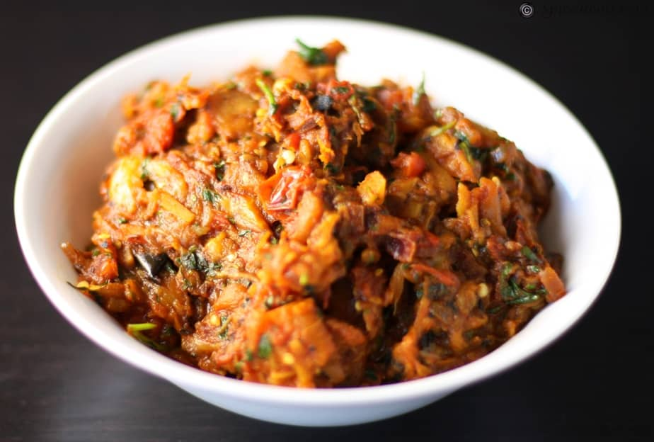 aubergine dip indian style - SpiceRoots