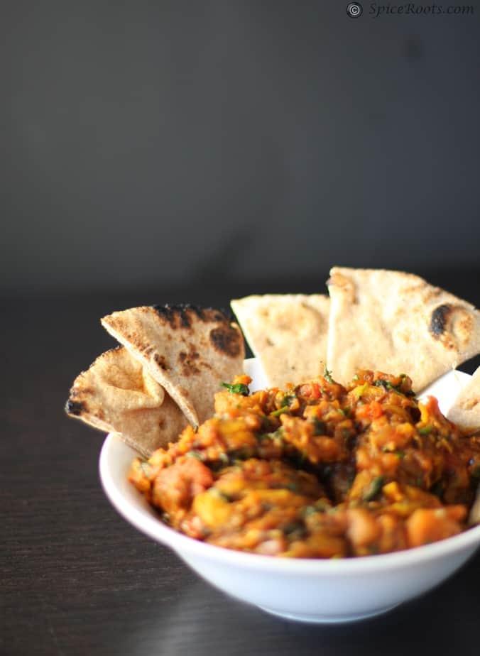 Roasted Eggplant Dip – Baigan Bharta