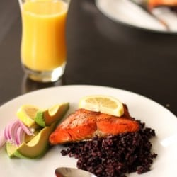Tandoori Spiced Salmon With Black Rice