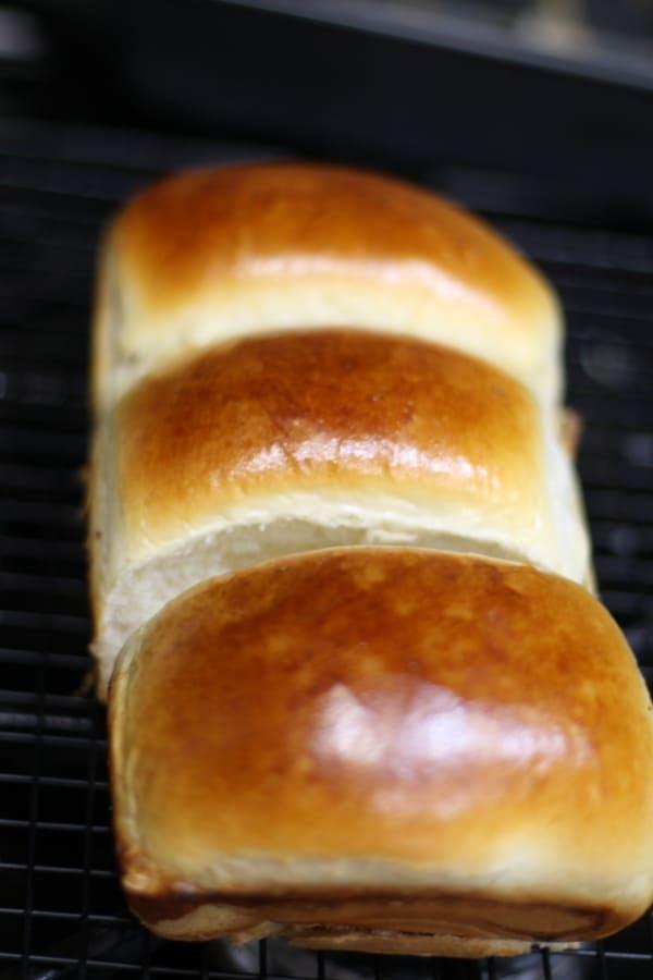 Japanese soft milk bread made in Hokkaido style