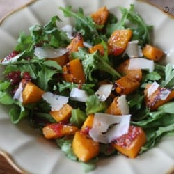 Roasted Butternut Squash Salad with Warm Cider Vinaigrette # Ina Fridays