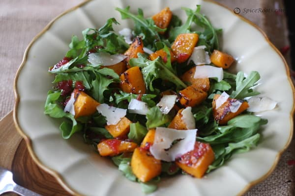 Roasted Butternut Squash Salad with Warm Cider Vinaigrette # Ina ...