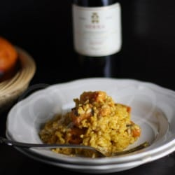 Saffron Risotto with Butternut Squash #Ina Fridays