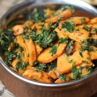 Sweet Potato and Fenugreek - Shakariya Methi Nu Shaak