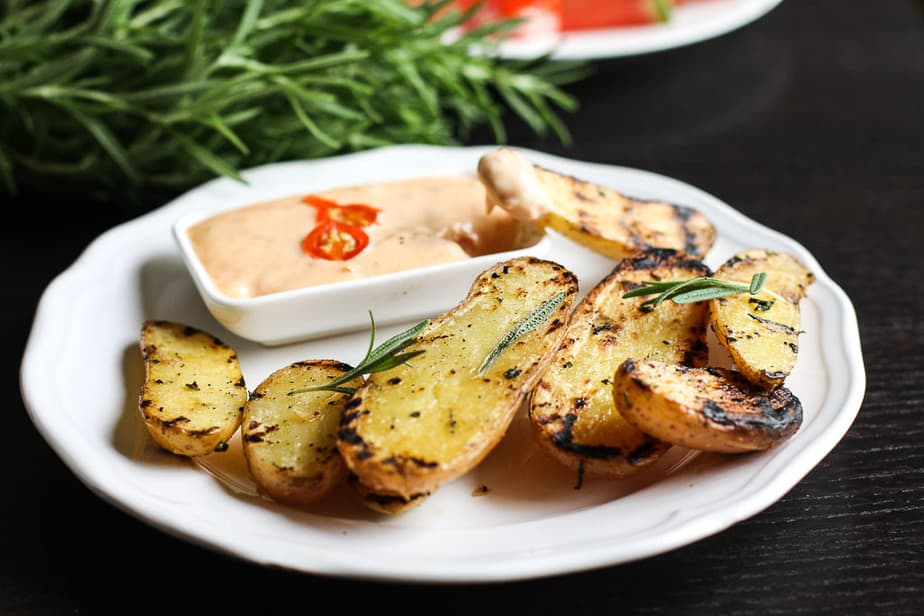 Grilled Rosemary potatoes-7
