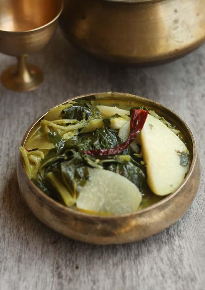 Monji Haakh-Kohl rabi cooked in Kashmiri style