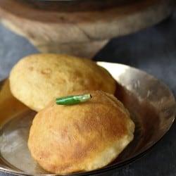 Bhatura - Leavened Fried Bread #BreadBakers