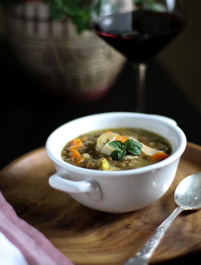 French Lentil and Vegetable soup-2