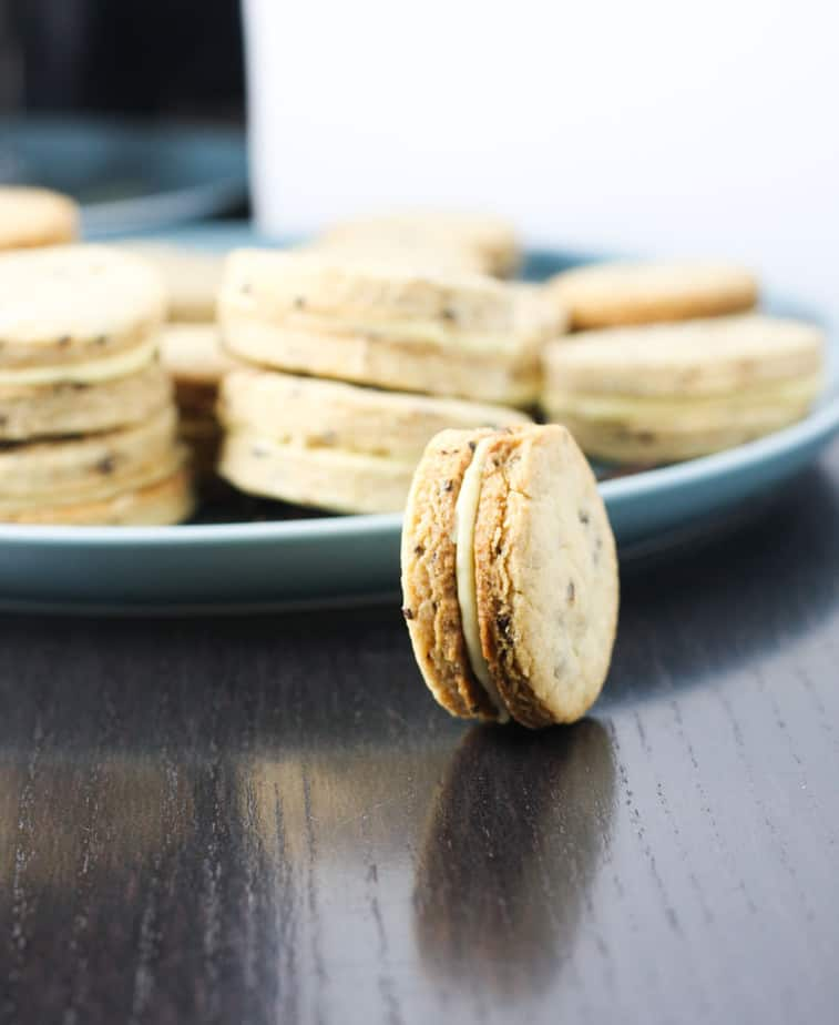 Coffee and Irish cream Sandwich cookies