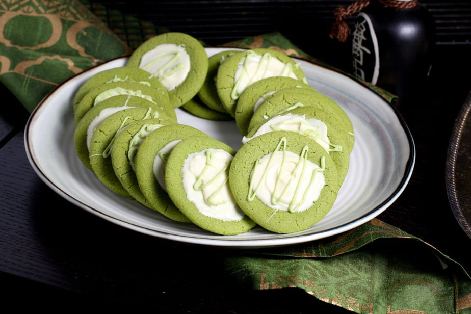 Matcha and White chocolate cookies-4