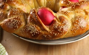 Lambropsomo – Greek Easter Bread #BreadBakers
