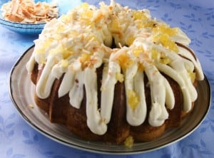 Tropical Surprise Bundt Cake #Bundt Bakers