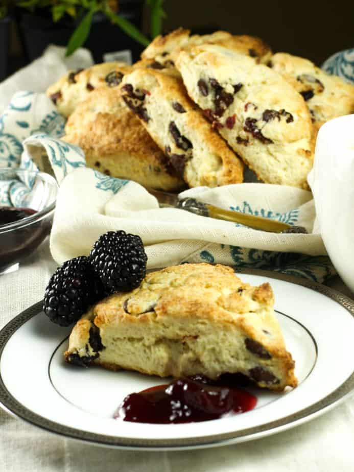 Cherry and Chocolate chip Scone