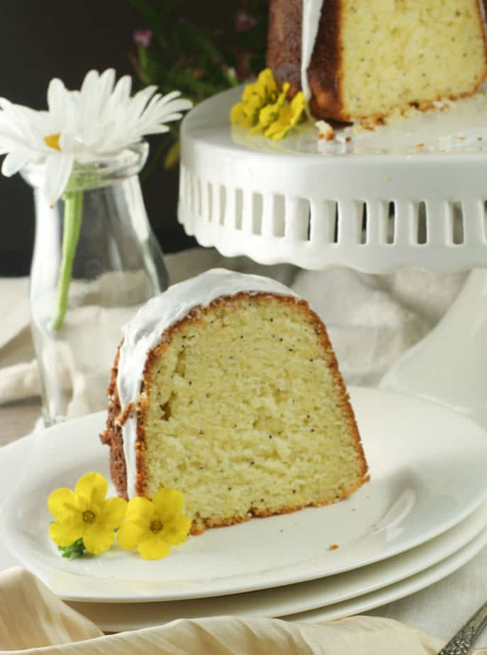Lemon Ricotta poppy seed bundt cake
