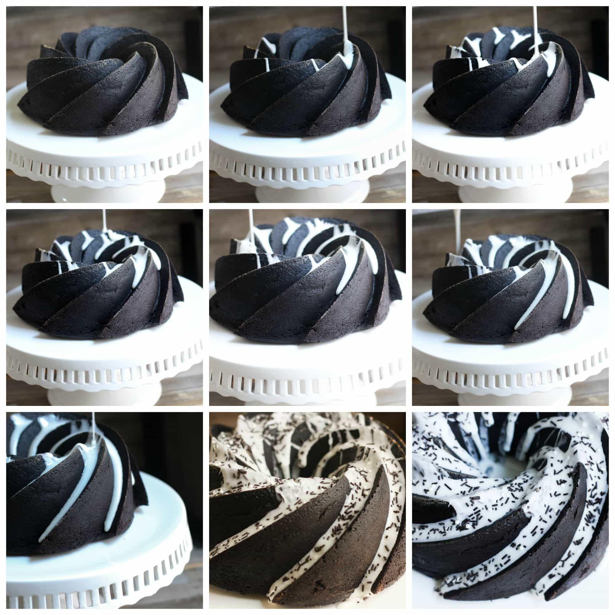 Chocolate Sprinkles Sour Cream Bundt Cake