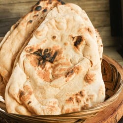 Whole Wheat Naan #BreadBakers