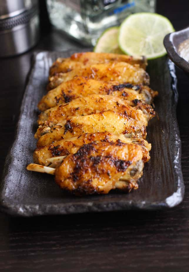 Tequila Lime Chicken Wings - SpiceRoots