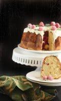 Raspberry Mojito Bundt Cake
