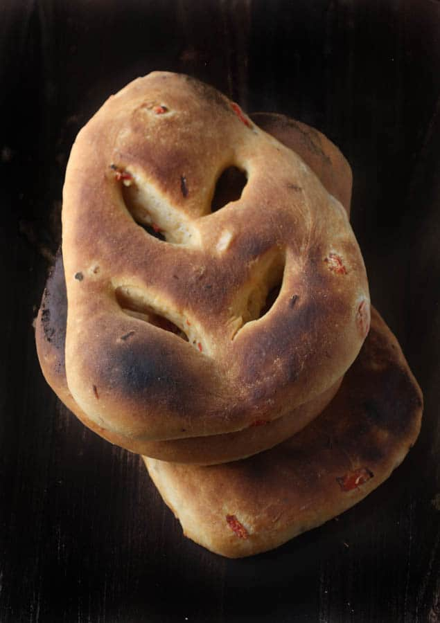 Roasted Red Pepper Fougasse