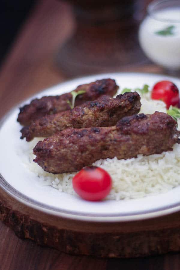 Lamb Chelo Kebab