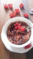 Chocolate and Red Current Oatmeal