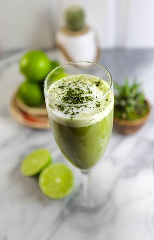 Matcha Pisco - green tea cocktail
