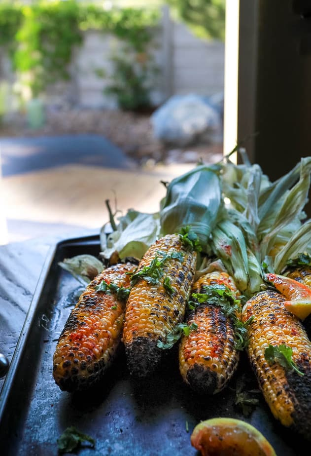 Indian Grilled Corn on the Cob - Street Style Bhutta