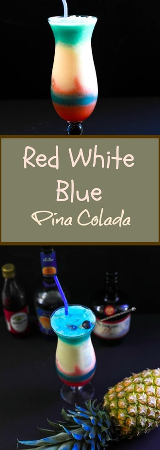 Red White Blue Pina Colada