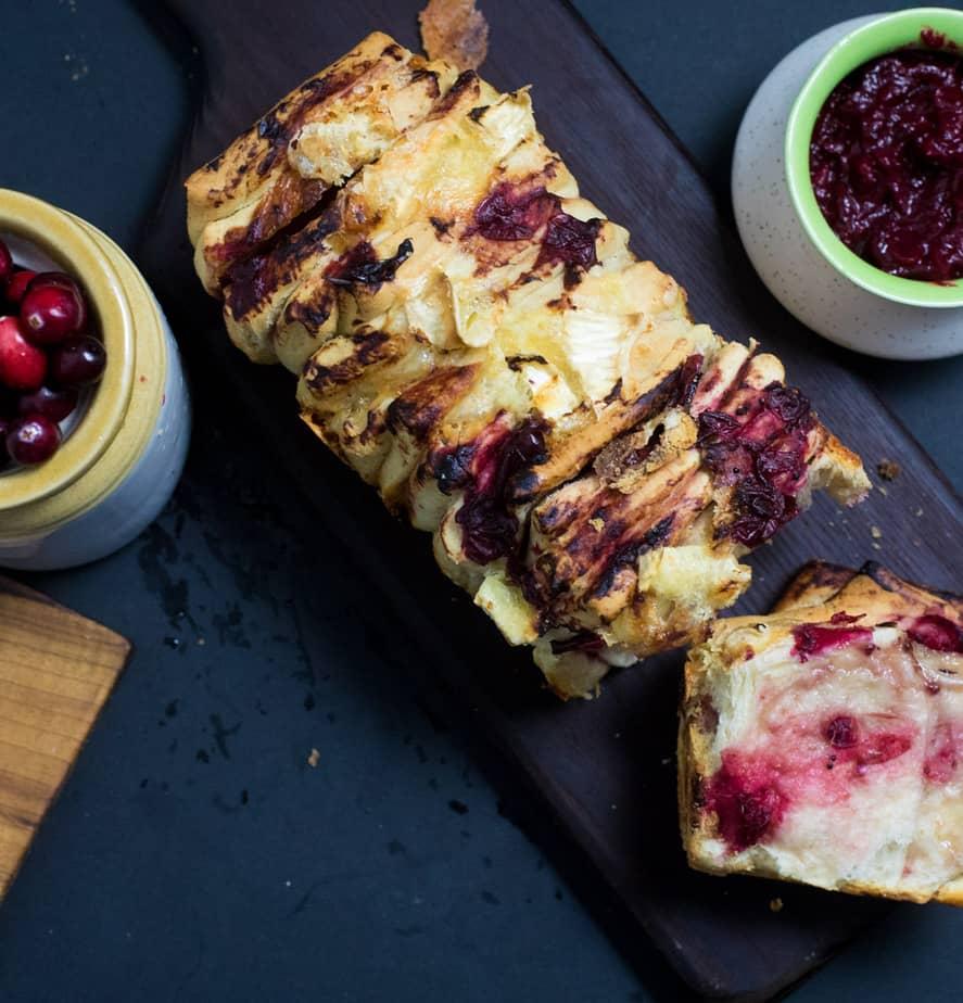 Cranberry Chutney Pull Apart Bread