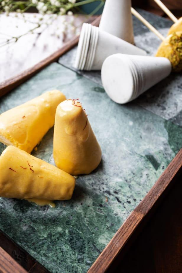 Dulce De Leche Mango Kulfi
