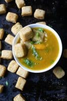Butternut squash Soup with Millet tots