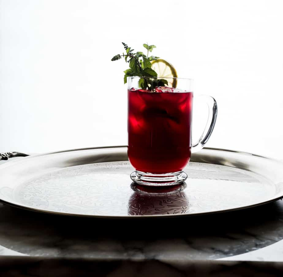Cocktail with vodka and cranberry juice