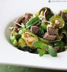 Brussels Sprouts and sprouted Moong Salad