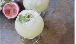 Passion Fruit Cooler with Ginger and Mint